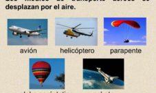 Medios de transporte aéreo