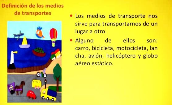 ¿Qué son los medios de transporte?