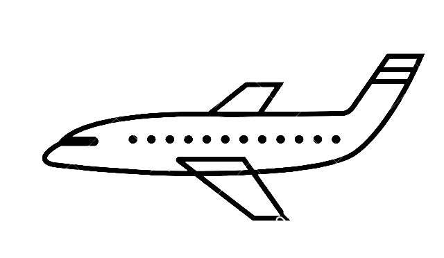 Medios de transporte aéreo para colorear