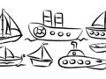 Medios de transporte marítimo para colorear